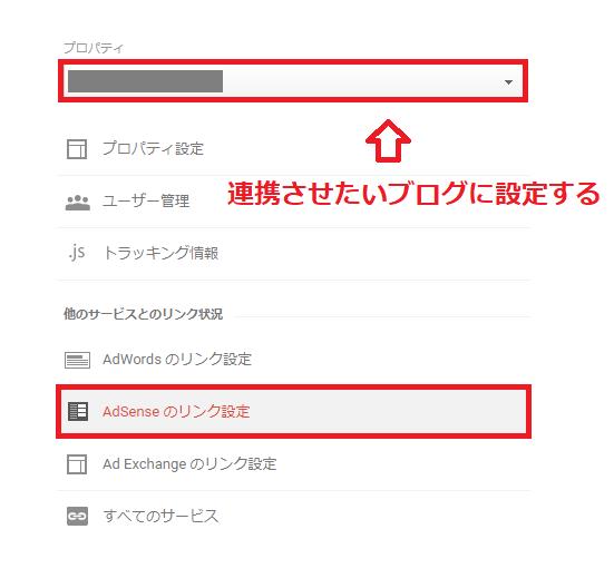 AdSenseのリンク設定