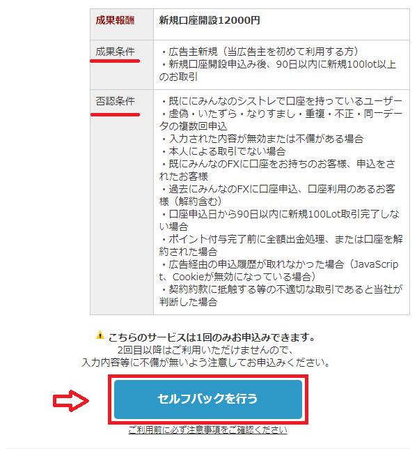 みんなのFXの口座開設をポイントサイト(セルフバック)で申し込む方法は?