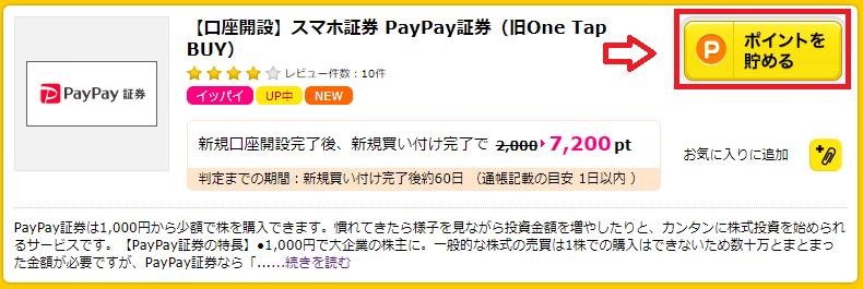 PayPay証券の口座開設をポイントサイト(セルフバック)で申し込む方法は?