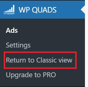 「WP QUADS」の設定方法