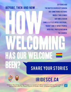 Downloadable Iridesce poster; see Resources at www.iridesce.ca