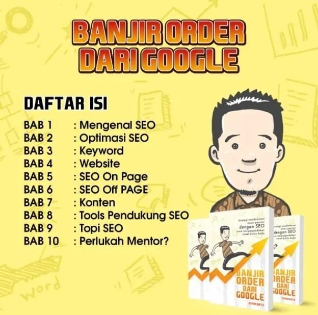 Review Buku Banjir Order dari Google by Darmanto
