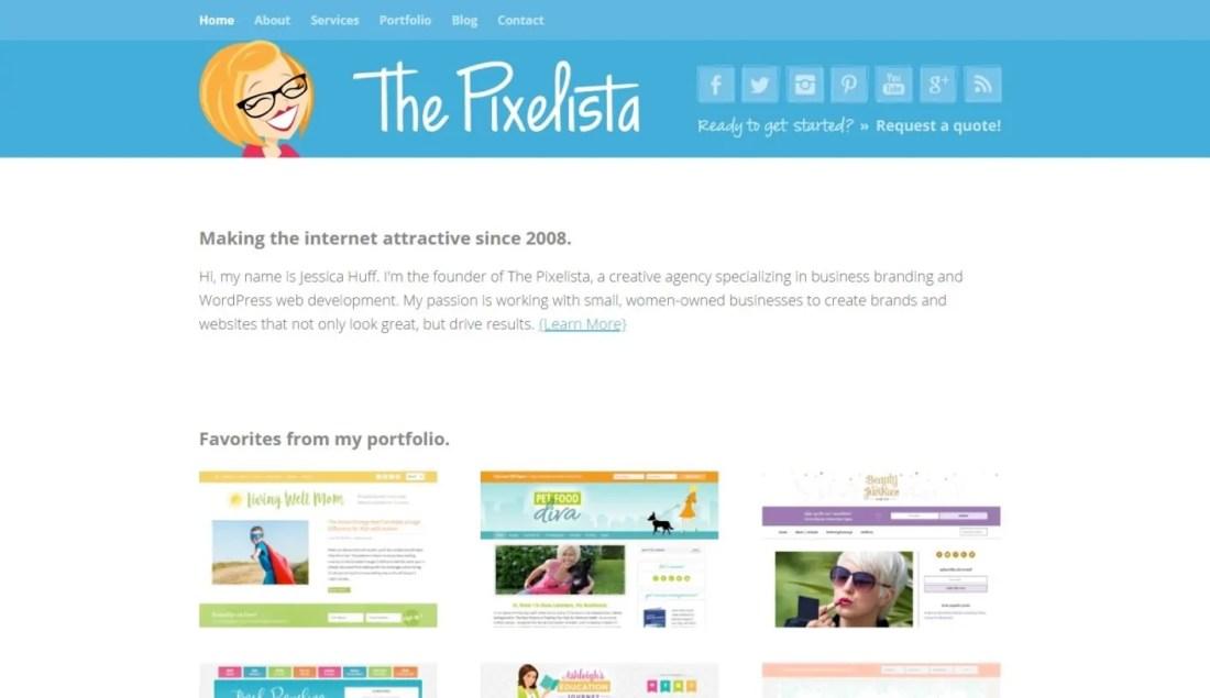 Tempat Beli Themes WordPress Premium The Pixelista