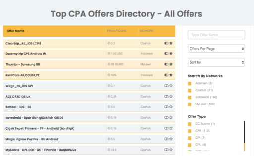 Top CPA Offers affNext