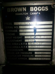 110 Ton Brown and Boggs OBI Press 4