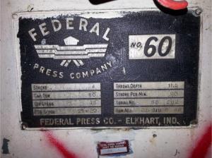 Federal 60 Ton Press 4