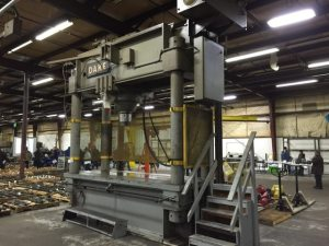Dake Hydraulic Straightening Press 600 Ton