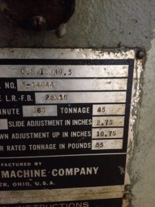 45 Ton Minster OBI Press (3)