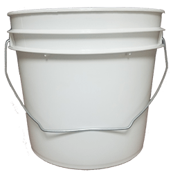 1 gallon pail white