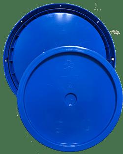 345 round pail lid chevron blue