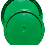 345 round pail lid green