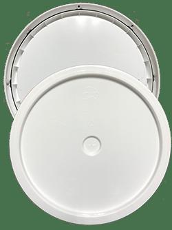 345 round pail lid white