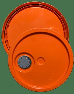 345 round pail lid with spout orange