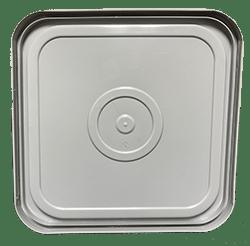 4 gallon square lid grey