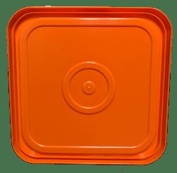 4 gallon square lid orange