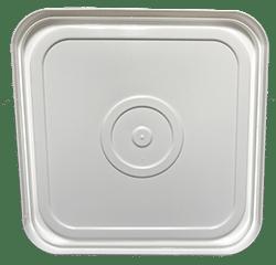 4 gallon square lid white