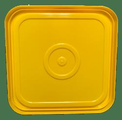 4 gallon square lid yellow