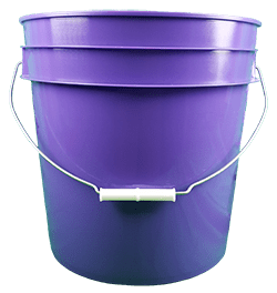 4.25 gallon pail purple