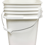 5 gallon container white