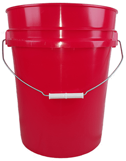 5.25 gallon pail red