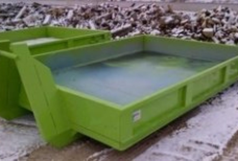 Concrete Dumpster