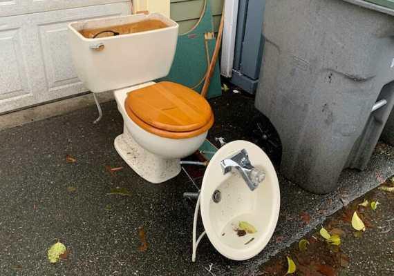 Dumpster for Bathroom Remodel
