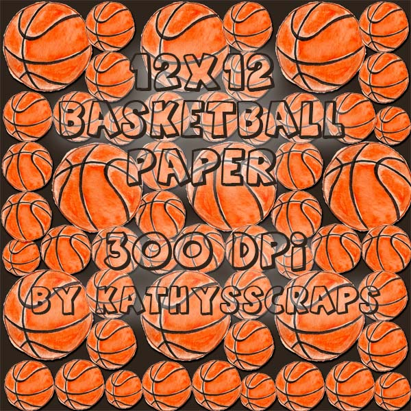 basketball pattern digital scrapbook paper