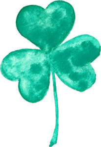 FREE watercolor st. patrick's day shamrock clip art