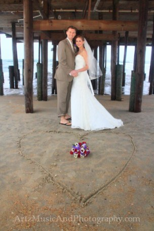 Sarah & Jack, Outer Banks Weddings photo by ARTZ MUSIC & PHOTOGRAPHY / affordableOBXweddings.com.