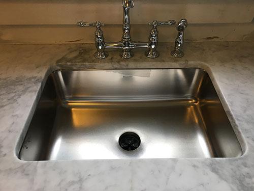 stainless steel sink refurbishment