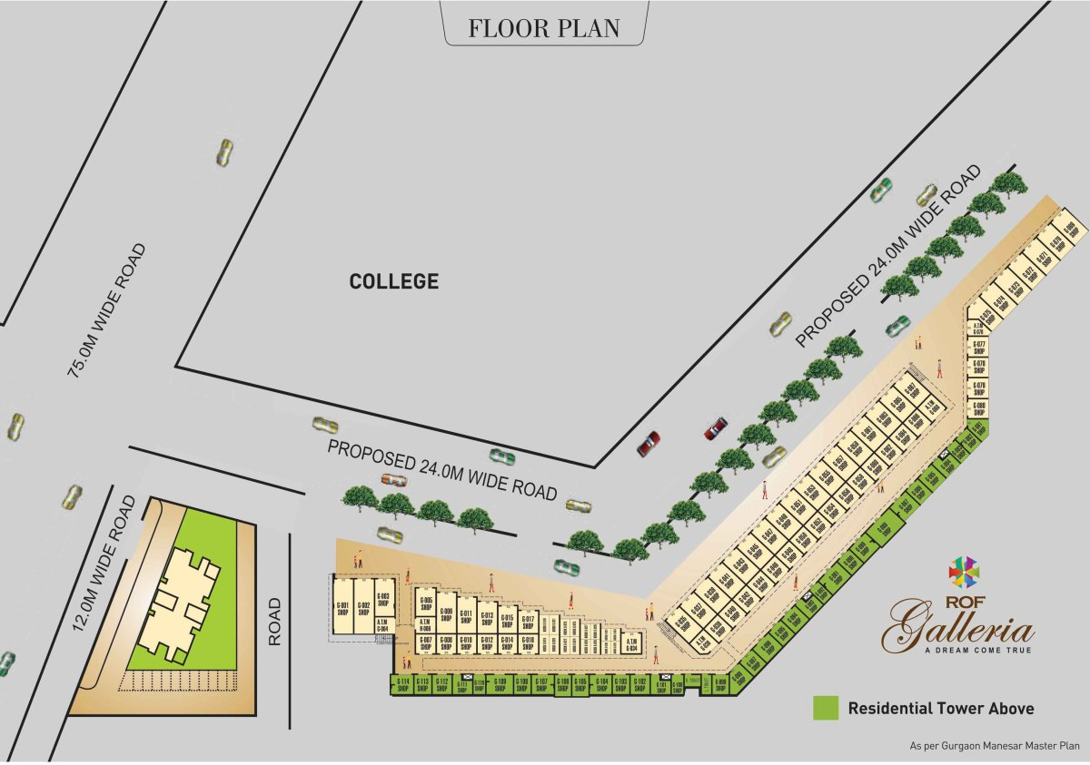 Ramada Galleria affordable shops Floor Plan