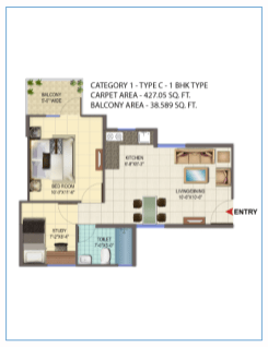 Signature Orchard Avenue 1Bhk type C