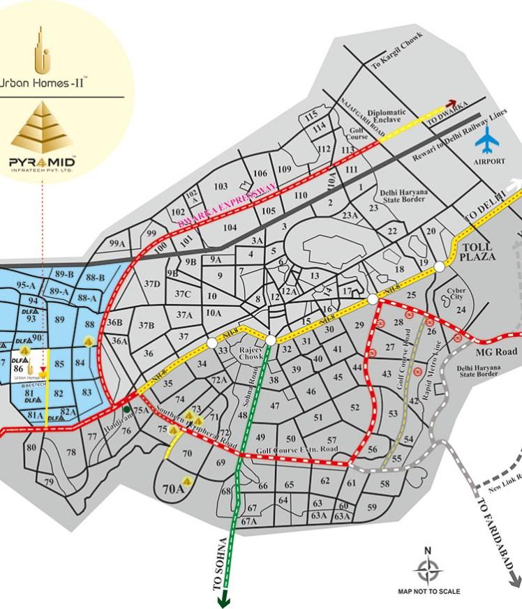 Pyramid Urban Homes 2 Location Map