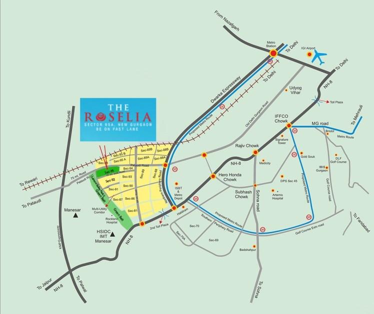 Signature Roselia location map