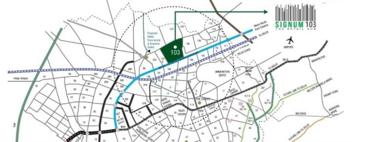 Signum 103 Location Map
