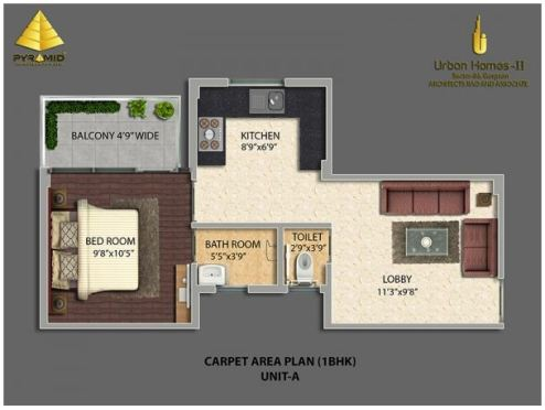 Type A 1BHK
