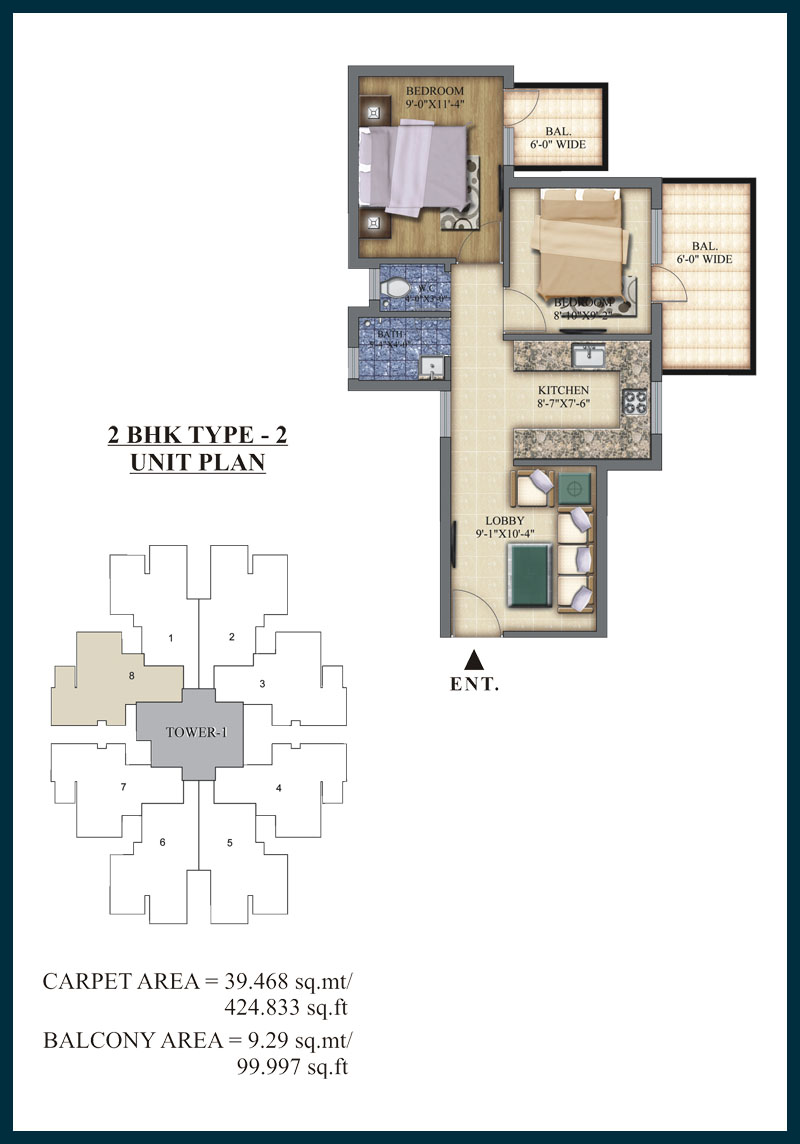 Pareena Laxmi 2 BHK TYPE 2