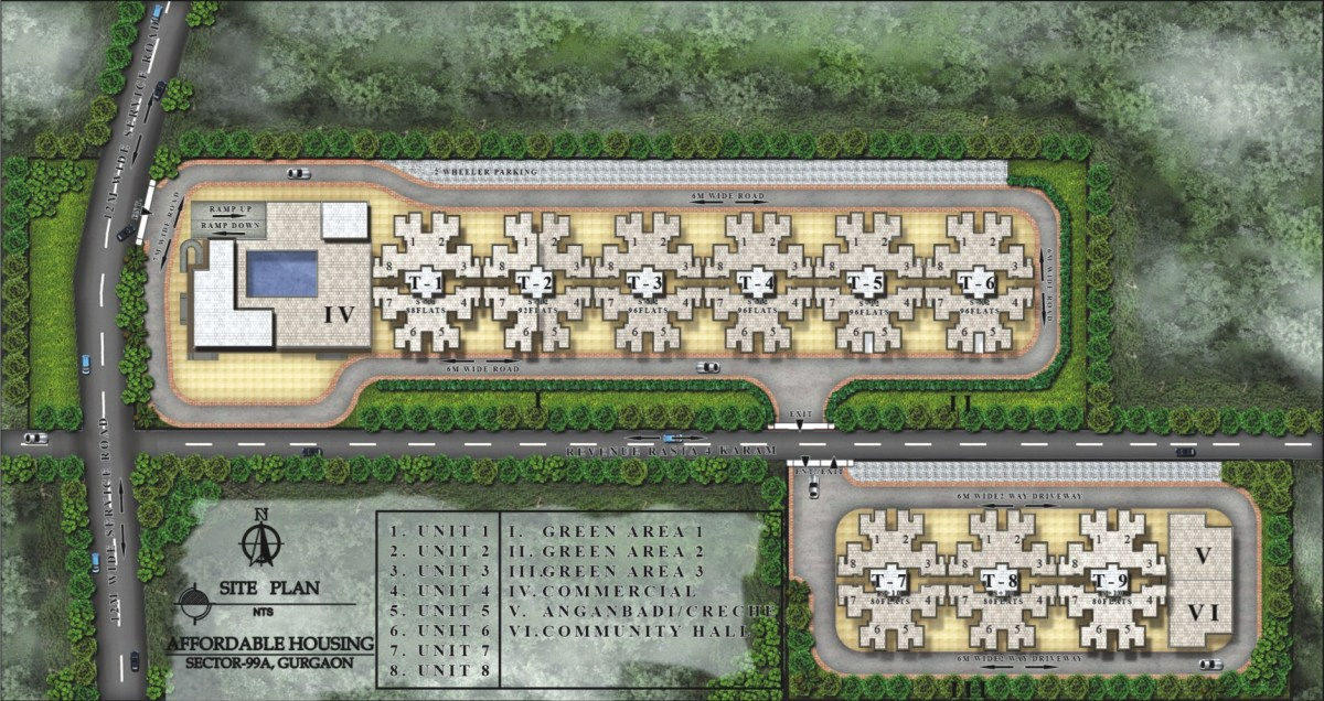 Pareena Laxmi site plan layout
