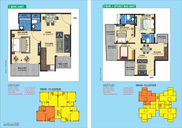 Zara Aavaas sector 104 Floor plan