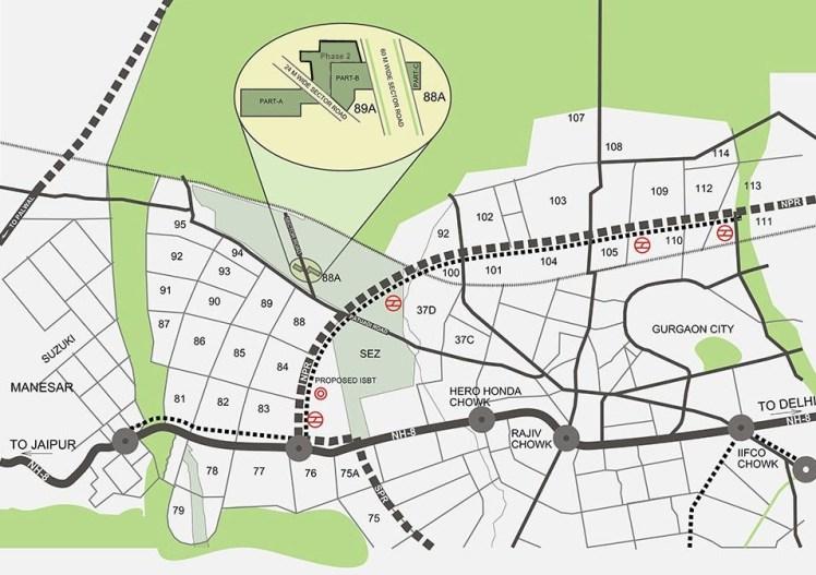 Adani Aangan Location Map