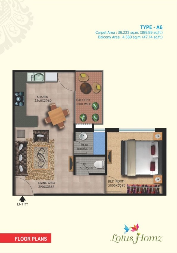 Type A6 - 1Bhk