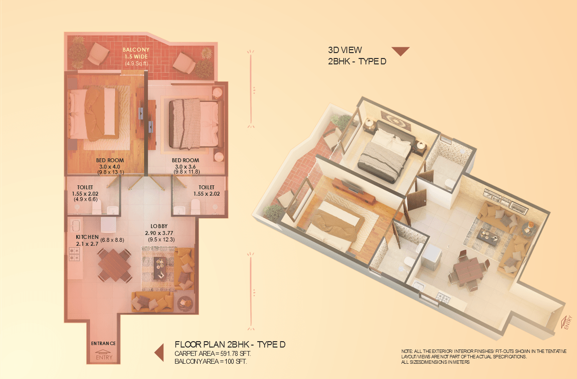 Elite 2BHK Type D