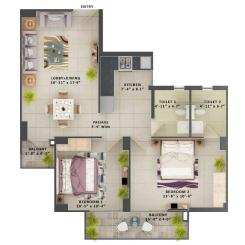 Type D- 2BHK The Meridian