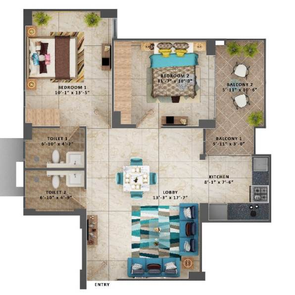 2 BHK Type A Ultimus