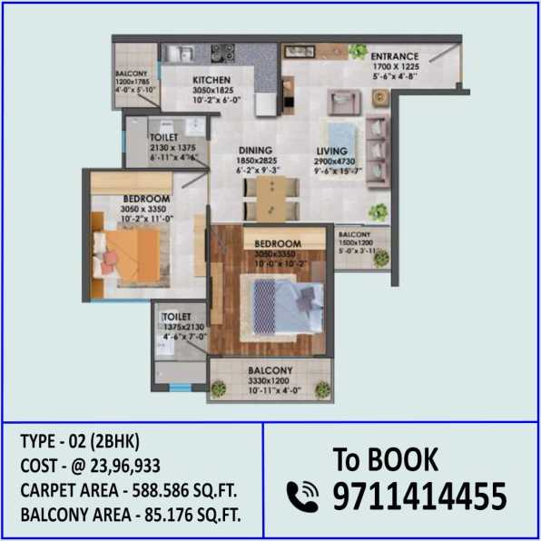 2BHK Type 2 Signature Proxima
