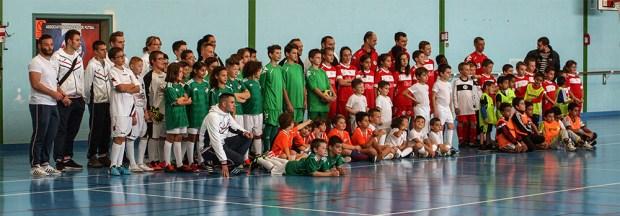 L'ensemble des équipes présentes pour la première journée de l'Académy Futsal France
