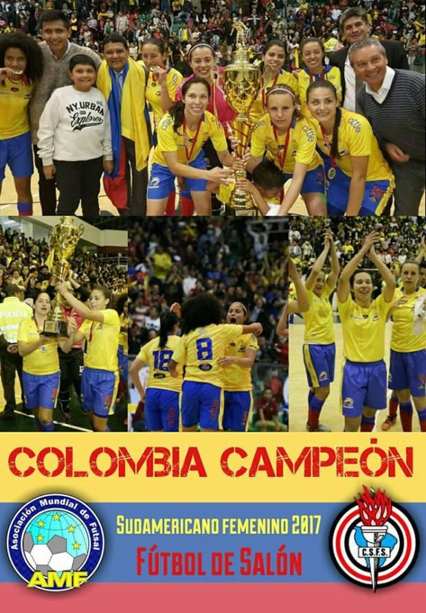 colombie campeon feminin futsal