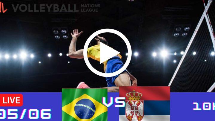 Resultado: Brasil 3 vs 1 Sérvia – Liga das Nações – 05/06 – 10h