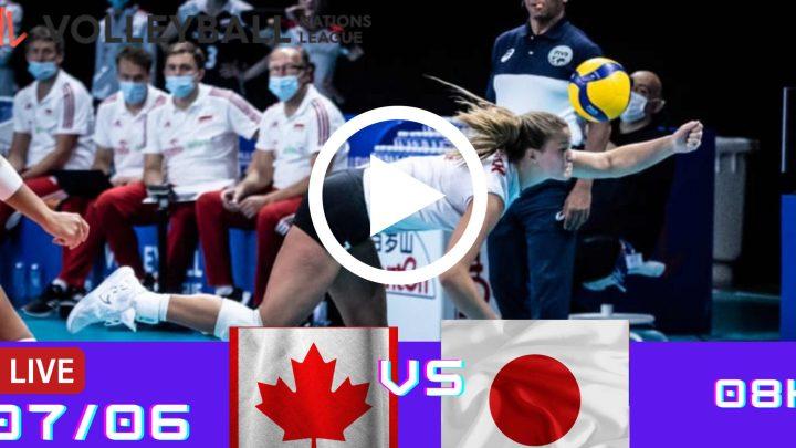 Resultado: Canadá 0 vs 3 Japão – Liga das Nações – 07/06 – 08h