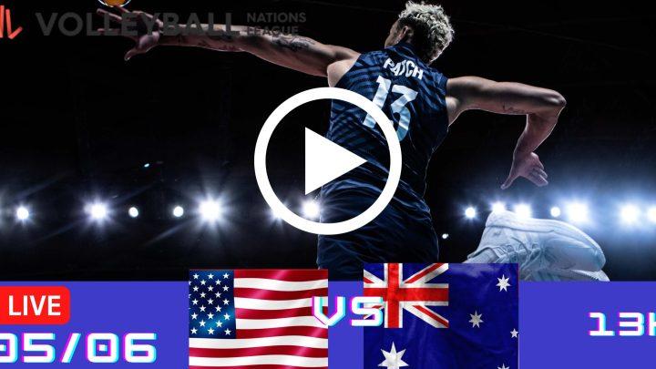 Resultado: Estados Unidos 3 vs 0 Austrália – Liga das Nações – 05/06 – 13h
